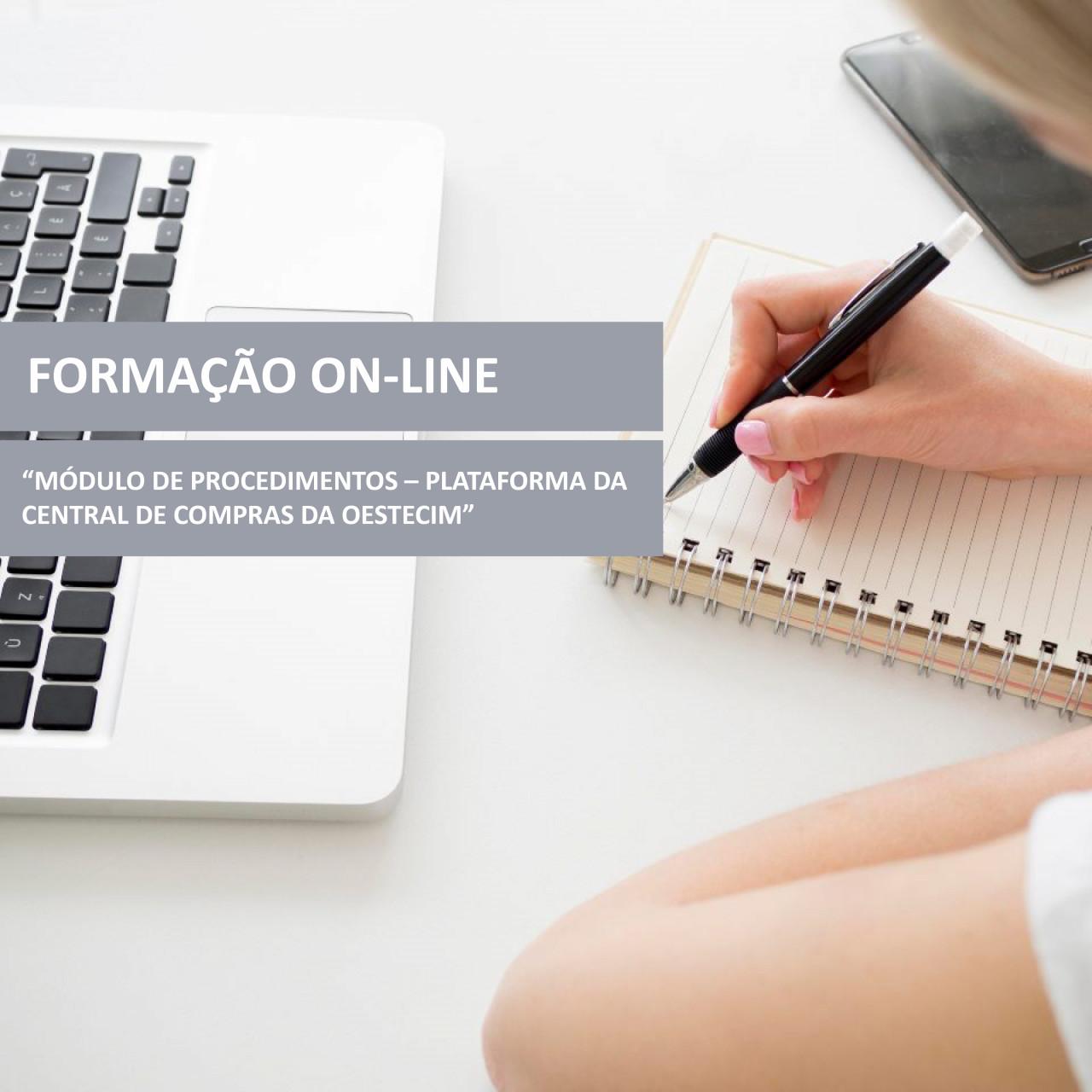 """Ação de formação on-line """"Módulo de Procedimentos – Plataforma da Central de Compras da OesteCIM"""""""